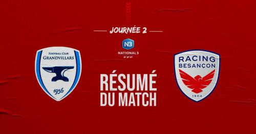Recap Match Championnat Journée 2
